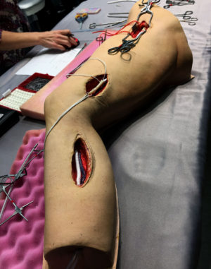 Long Femoral Leg Medical Simulator Graft Bypass Surgery